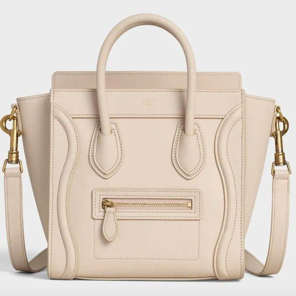 Celine Nano Luggage Bag In Smooth Calfskin